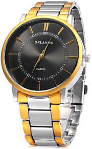 Masculino Relógio Elegante / Relógio de Moda Quartz / Aço Inoxidável Banda Casual Branco marca