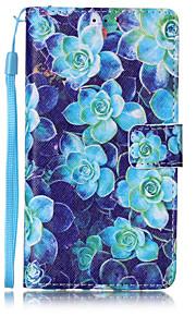 Ganzkörper Brieftasche / Kartenhalter / Flip / Muster Blume PU - Leder Hart Fall-Abdeckung für Huawei Huawei P9 Lite