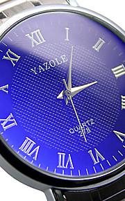 Casal Relógio Elegante Relógio de Moda Relógio de Pulso Quartzo / Aço Inoxidável Banda Casual Prata Branco Preto