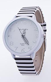 Masculino / Mulheres Relógio de Pulso Quartz / PU Banda Folhas / Casual Branco / Azul / Vermelho / Rosa / Roxa marca