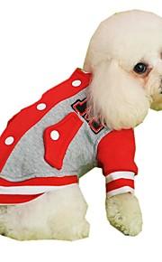 Gatos / Perros Abrigos / Saco y Capucha / Sudadera Rojo / Amarillo / Azul / Gris / Rosa Ropa para Perro Invierno / Primavera/OtoñoLetra y