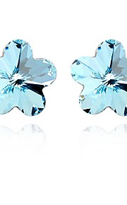 Øreringe Flower Shape Smykker 1 par Mode Party / Daglig Legering Dame Sølv