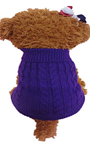 Holdhoney Dog Sweater Purple / Orange Dog Clothes Winter Flower Fashion #LT15050278