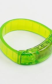 Skadeförebyggande Reflexremsa LED Löpning Unisex Silver / Ivory / Grå / Rosa ABS