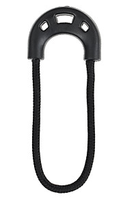FURA Multi-Use Cotton Cord PVC Elastic Cord Zipper Pullers - Black(With Hole)