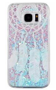 Per Samsung Galaxy S7 Edge Liquido a cascata Custodia Custodia posteriore Custodia Acchiappasogni Resistente PC SamsungS7 edge / S7 / S6