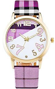 Mulheres Relógio de Moda / Relógio de Pulso Quartz / Couro Banda Legal / Casual Branco / Azul / Verde / Rosa / Roxa / Amarelo marca