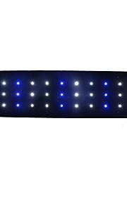 Akvária Dekorace akvária LED osvětlení Bílé Modré Úspora energie LED lampa 220V