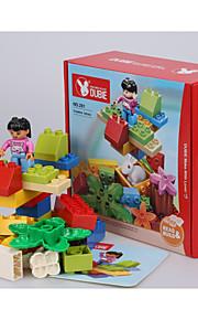 Blocos de Construir para presente Blocos de Construir Rabbit / Circular Plástico acima de 3 Arco-Íris Brinquedos