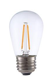 2W E26/E27 LED-gloeilampen S14 2 COB 200 lm Warm wit Dimbaar V 1 stuks