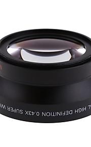 67mm 0.43x vidvinkel makro objektiv linse til Canon Rebel T5i t4i T3i 18-135mm til Nikon 18-105mm linse kit