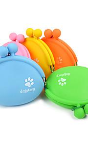Katze Hund Futter-Vorrichtungen Haustiere Schüsseln & Füttern Tragbar Klappbar Orange Gelb Grün Blau Rosa