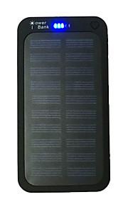 5000mAhבנק כוח סוללה חיצונית מטען סולרי / Multi-Output / פנס / דק מאוד 5000 Output 1:5V 1000mA Output 2:5V 2000mAמטען סולרי /