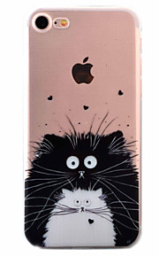 For Etui iPhone 7 / Etui iPhone 6 / Etui iPhone 5 Ultratynn / Mønster Etui Bakdeksel Etui Katt Myk TPU AppleiPhone 7 Plus / iPhone 7 /