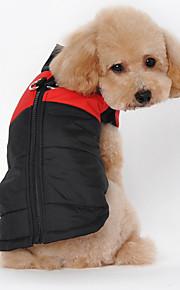 Cani Felpe con cappuccio Rosso / Arancione / Verde / Rosa Abbigliamento per cani Inverno Britsh Di tendenza / Casual / Sportivo /