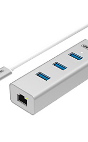 Unitek usb3.1 type c om USB3.0 / USB3.0 / USB3.0 / RJ45 high speed hub