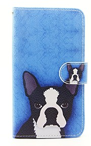 Dog Pattern PU Leather Full Body Case with Stand and Card Slot for Wiko Lenny 2 Lenny 3 Sunset 2