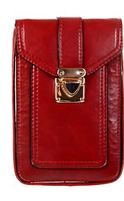 För Plånbok fodral Liten påse fodral Enfärgat Mjukt PU-läder Universal Other