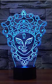 facebook berøre dimming 3D LED nattlys 7colorful dekorasjon atmosfære lampe nyhet belysning jul lys