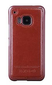 Para Funda HTC En Relieve Funda Cubierta Trasera Funda Un Color Dura Cuero Sintético HTC HTC One M9 / HTC uno M8