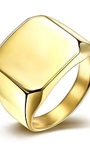 Ringe Bryllup / Party / Daglig / Afslappet Smykker Rustfrit Stål / Sølvbelagt / Guldbelagt Herre Ring 1pc,7 / 8 / 9 / 10 Sølv / Gul Guld