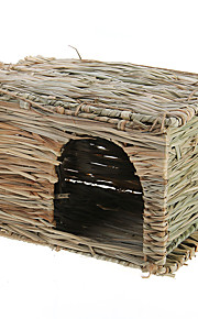 Small Pet Hamster Mouse Rat Rabbit Grass House Kennel Snooze Cabin