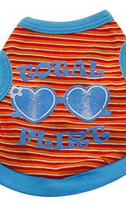 Gatos / Perros Disfraces / Camiseta / Chaleco Naranja / Verde / Rosado Ropa para Perro Invierno / Verano / Primavera/Otoño RayasAdorable
