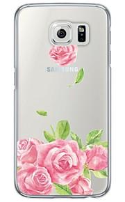För Ultratunt / Genomskinlig fodral Skal fodral Blomma Mjukt TPU Samsung S7 edge / S7 / S6 edge plus / S6 edge / S6 / S5 / S4