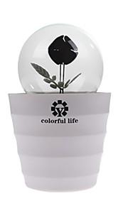 ledet romantisk rose blomst pære lampe lightled hjem og rom natt lys dekorasjon belysning