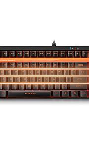 teclado para juegos mecánicos rapoo retroiluminación del teclado v500s eje negro 92keys programables ningún conflicto