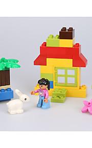 Building Blocks For Gift  Building Blocks Rabbit / Circular / Square Plastic Above 3 Rainbow Toys