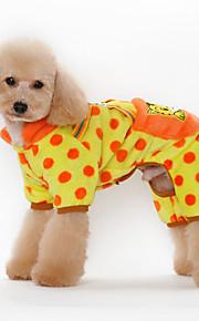 Cani Felpe con cappuccio Arancione / Giallo / Nero / Rosa Abbigliamento per cani Inverno / Primavera/Autunno Fiore decorativoDivertente /