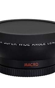 58mm 0.45x vidvinkel linse makroobjektiv til kanon 350D / 400D / 450D / 500D / 1000D / 550D / 600D / 1100D dslr kamera