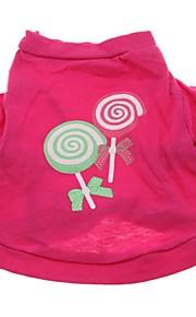 Gatos / Cães Camiseta / Colete Rosa Roupas para Cães Inverno / Verão / Primavera/Outono FlorFofo / Aniversário / Férias / Da Moda /