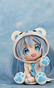 Fantasias Snow Miku PVC 7cm Figuras de Ação Anime modelo Brinquedos boneca Toy