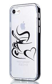 Para Capinha iPhone 7 / Capinha iPhone 6 / Capinha iPhone 5 Transparente / Estampada Capinha Capa Traseira Capinha Coração Macia TPU Apple