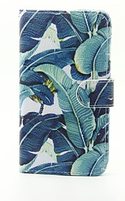 Banana Leaf Pattern PU Leather Full Body Case with Stand and Card Slot for LG G5