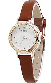 Mulheres Relógio de Moda / Relógio de Pulso Quartz / Couro Banda Legal / Casual Preta / Branco / Vermelho / Marrom / Rosa marca