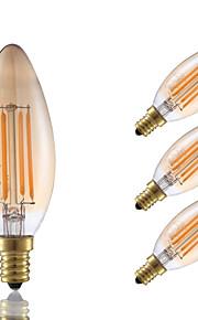 3.5 E12 LED-glødepærer B 4 COB 300 lm Ravgult Dimbar / Dekorativ V 4 stk.