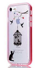 For iPhone 7 etui / iPhone 6 etui / iPhone 5 etui Transparent / Mønster Etui Bagcover Etui Dyr Blødt TPU AppleiPhone 7 Plus / iPhone 7 /