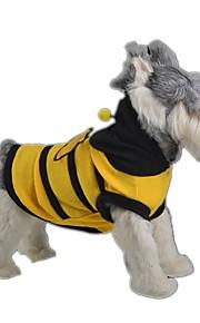 Koty / Psy Kostiumy / Płaszcze / Bluzy z kapturem Żółty Ubrania dla psów Zima / Wiosna/jesień Wzór zwierzęcyŚlub / Cosplay / Urodziny /
