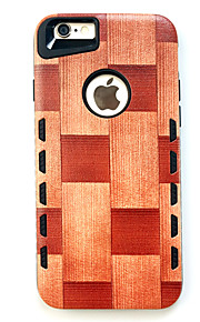 For Etui iPhone 7 / Etui iPhone 7 Plus / Etui iPhone 6 Støtsikker Etui Bakdeksel Etui Trefiber Hard Gummi AppleiPhone 7 Plus / iPhone 7 /