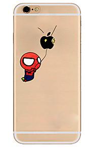Para Capinha iPhone 7 / Capinha iPhone 6 / Capinha iPhone 5 Transparente / Estampada Capinha Capa Traseira CapinhaBrincadeira Com Logo da