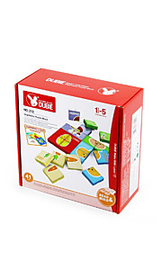 Jigsaw Puzzle For Gift  Building Blocks Square Plastic Above 3 Rainbow Toys
