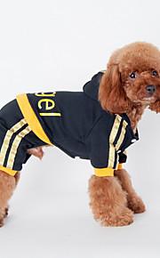 Psy Bluzy z kapturem Black / Różowy Ubrania dla psów Zima / Wiosna/jesień Litera i numer Codzienne / Sportowy /