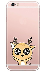 Cartoon Pattern TPU Ultra-thin Translucent Soft Back Cover for iPhone 7 Plus 7 6s Plus 6 Plus 6s 6 SE 5s 5