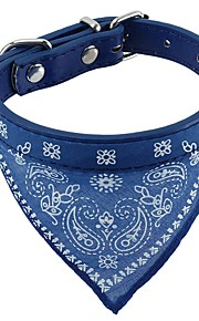 Cat / Dog Collar Cosplay / Soft / Bandanas / Hands free / Casual Flower Red / Black / Blue Fabric / PU Leather