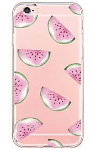 iPhone 7 7Plus Watermelon Pattern TPU Ultra-thin Translucent Soft Back Cover for iPhone 6s 6 Plus 5s 5 5E