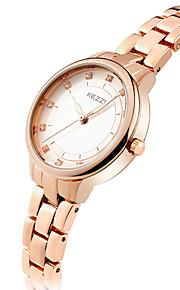 Mulheres Relógio de Moda / Relógio de Pulso Quartz / Aço Inoxidável Banda Legal / Casual Prata / Ouro Rose marca