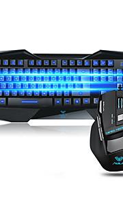 Aula de juego del ratón del teclado programable peine ergonómico retroiluminado multimedia